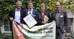 Auszeichnung UN-Dekade der Biologischen Vielfalt
